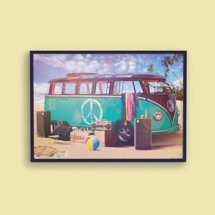 VW Volkswagen Camper - party - плакат