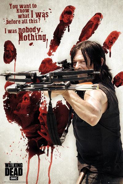 Walking Dead - Bloody Hand Daryl плакат