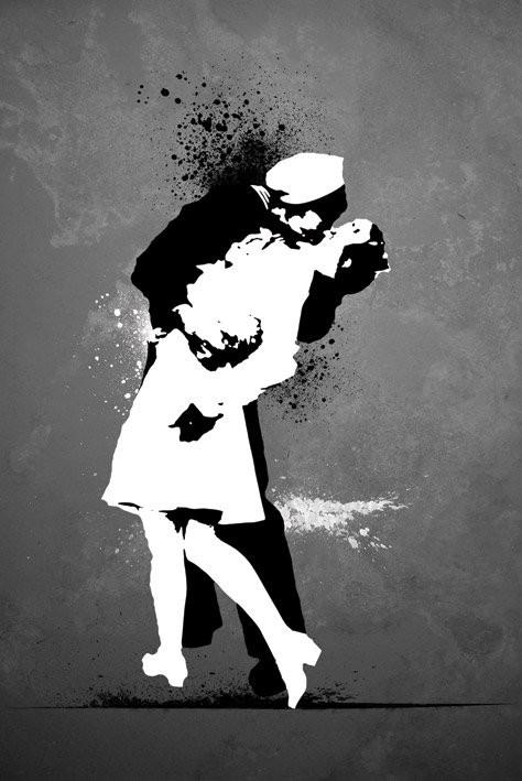 Wars and kiss - плакат