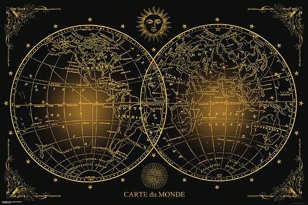 World Map - плакат