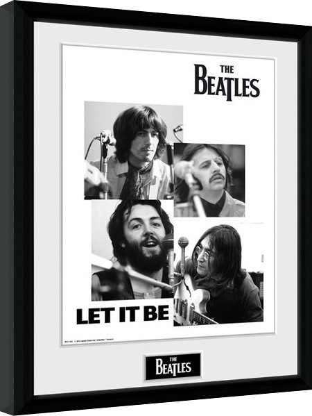 The Beatles - Let It Be Рамкиран плакат