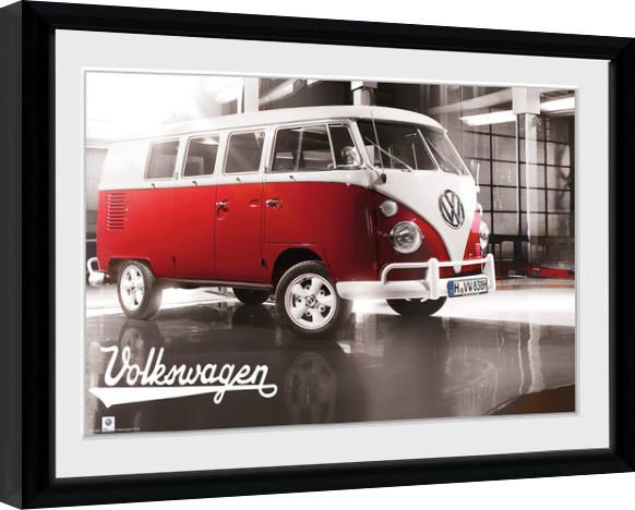 VW Camper - Warehouse Рамкиран плакат