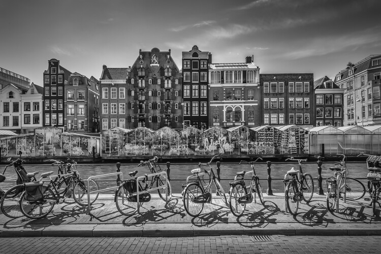 художествена фотография AMSTERDAM Singel With Flower Market