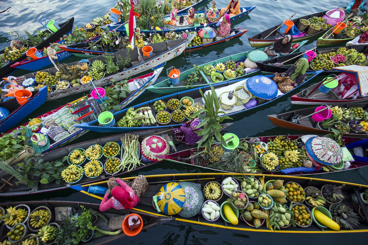 художествена фотография Banjarmasin Floating Market