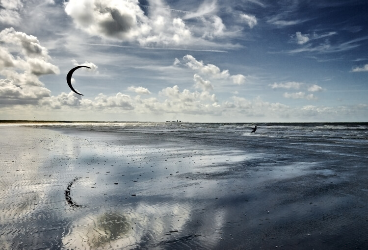 художествена фотография Blue Kiting