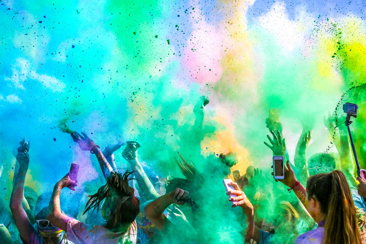 художествена фотография Color Run