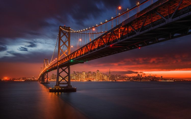художествена фотография Fire over San Francisco