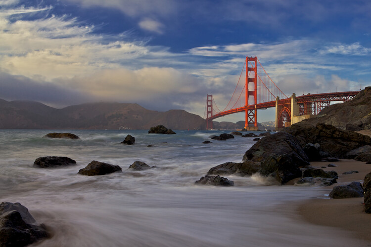 художествена фотография Golden Gate Bridge