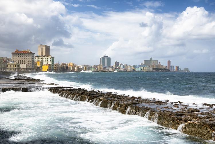 художествена фотография Malecon Wall of Havana
