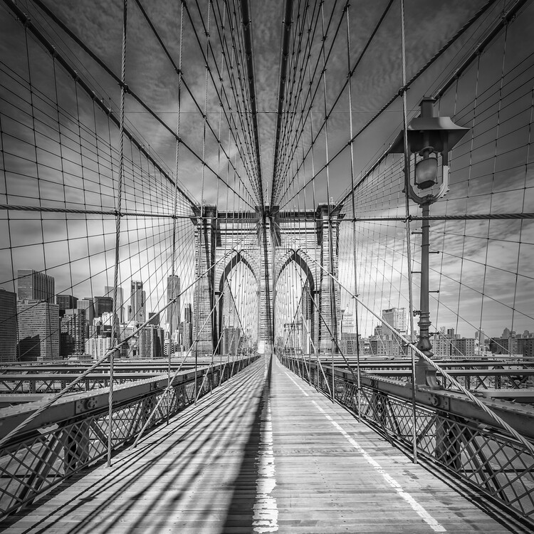 художествена фотография NEW YORK CITY Brooklyn Bridge