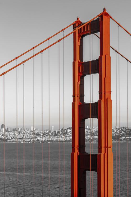 художествена фотография SAN FRANCISCO Golden Gate Bridge | colorkey