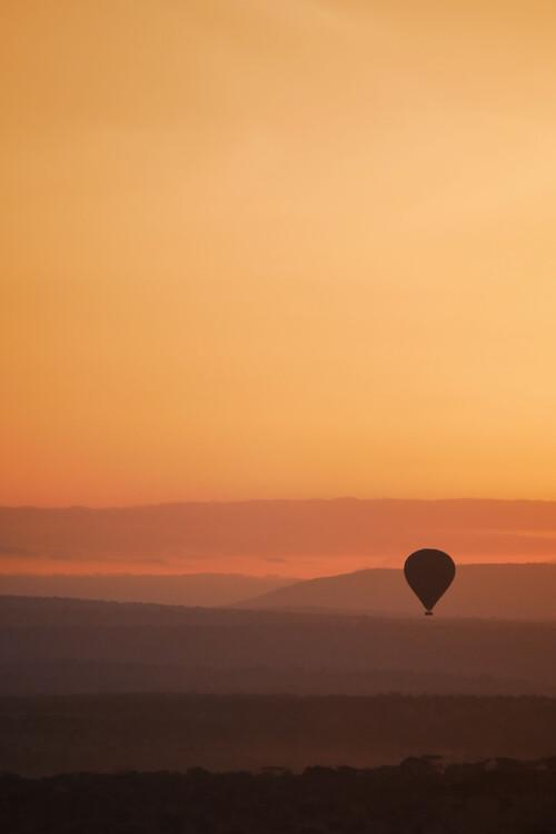 художествена фотография Sunset balloon ride