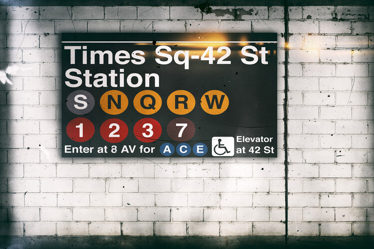 художествена фотография Times Square Station