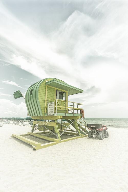 художествена фотография Vintage Florida Flair At Miami Beach