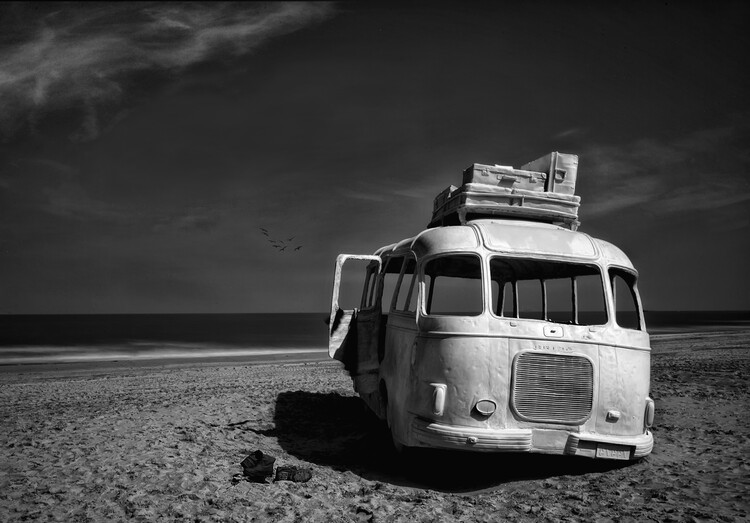 художествена фотография Beached Bus