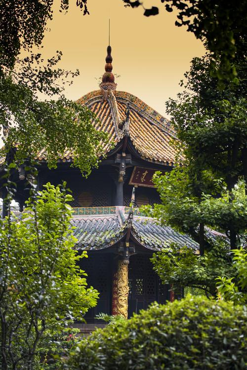 художествена фотография China 10MKm2 Collection - Chinese Pavilion at Sunset