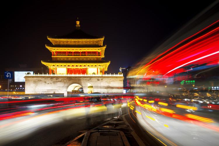 художествена фотография China 10MKm2 Collection - City Lights - Xi'an City