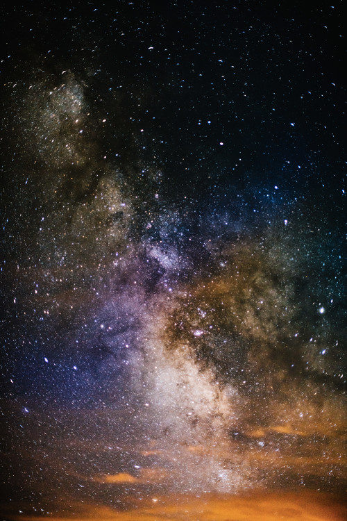 художествена фотография Details of Milky Way of St-Maria