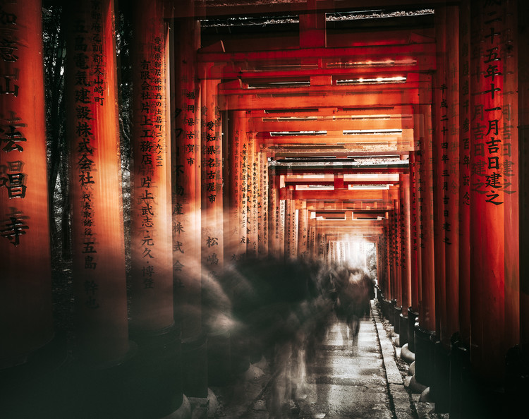 художествена фотография Fushimi Inari Shrine