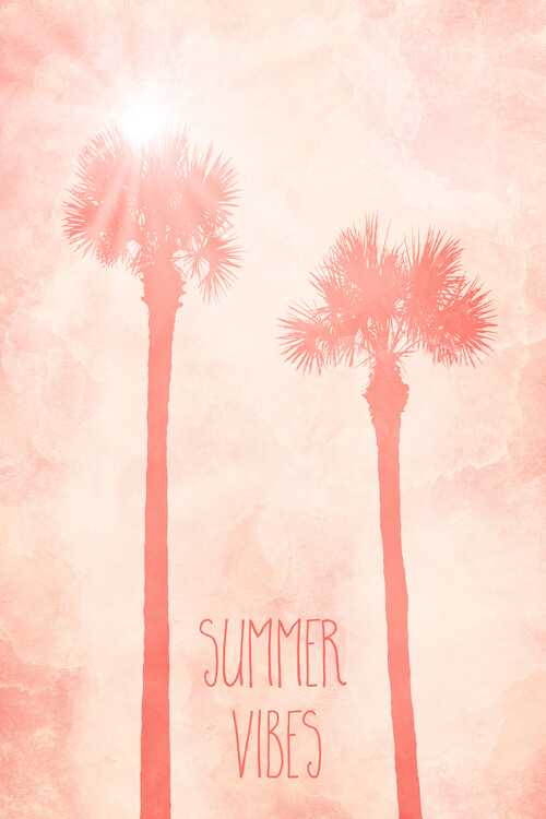 художествена фотография Graphic Art PALM TREES Summer Vibes