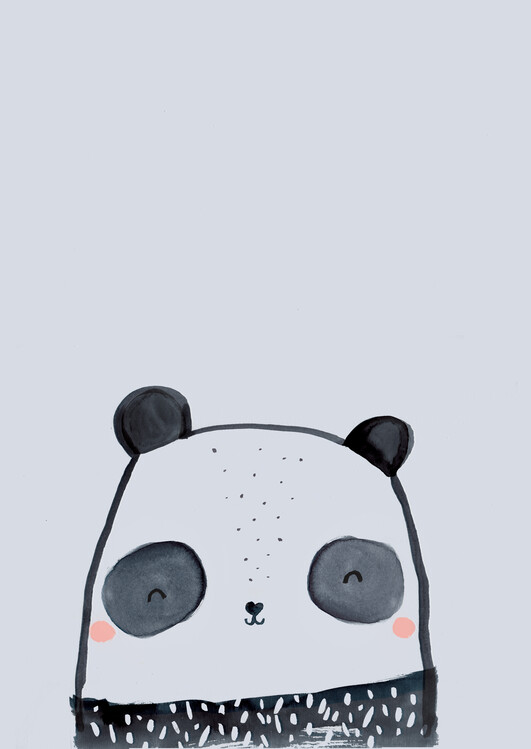художествена фотография Inky line panda
