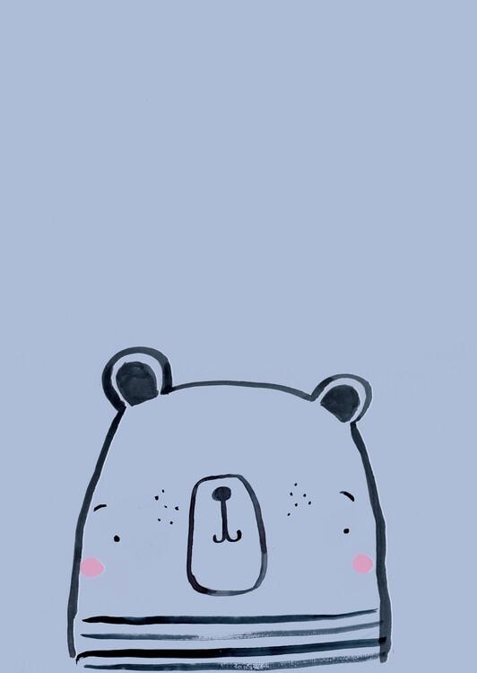 художествена фотография Inky line polar bear