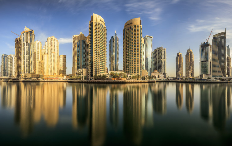 художествена фотография Panoramic Dubai Marina