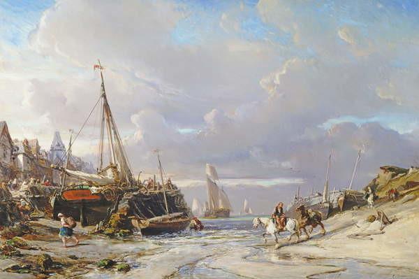 Port en Bretagne, 1861 Художествено Изкуство