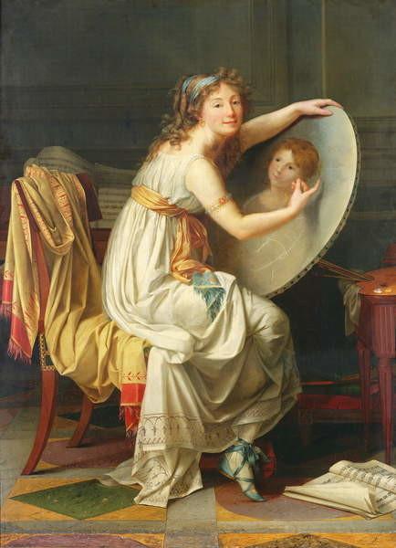 Portrait of Rose Adelaide Ducreux (1761-1802) Художествено Изкуство
