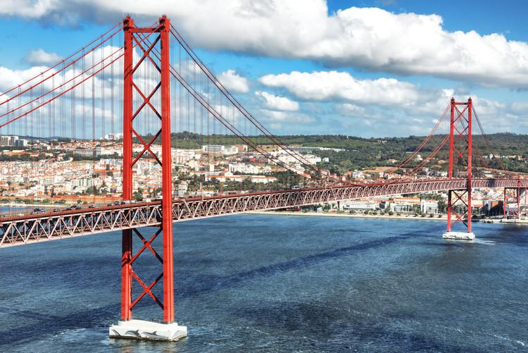 художествена фотография Red Bridge Lisbon