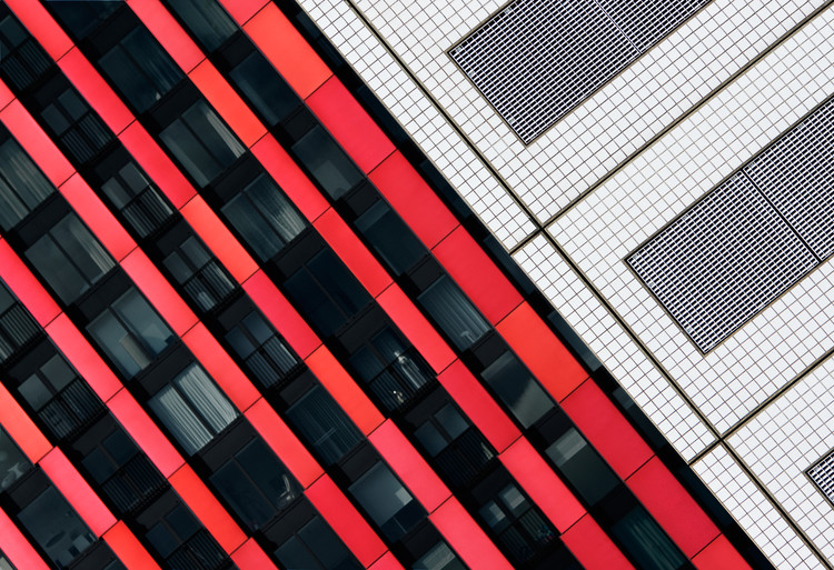 художествена фотография Red diagonals.