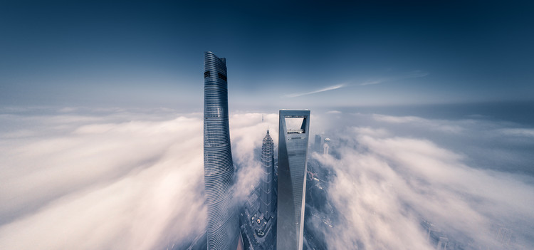 художествена фотография Shanghai Tower