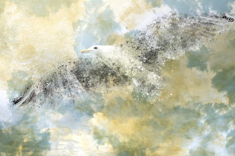 художествена фотография Vanishing Seagull