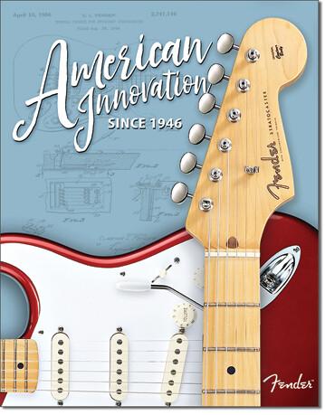Plechová cedule Fender - Innovation, (31 x 42 cm)