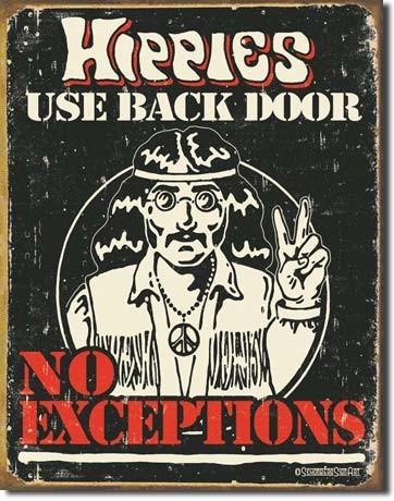 Plechová cedule SCHONBERG - hippies, (30 x 41 cm)