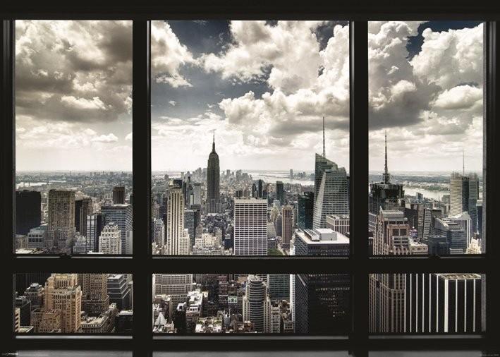 Plakát, Obraz - New York - window, (140 x 100 cm)