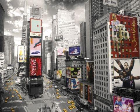 Plakát, Obraz - NEW YORK - times square 2, (50 x 40 cm)