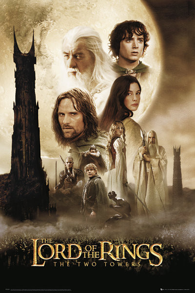 Plakát, Obraz - LORD OF THE RINGS - two towers one sheet, (61 x 91,5 cm)