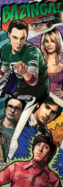 Plakát, Obraz - BIG BANG THEORY – comic, (53 x 158 cm)