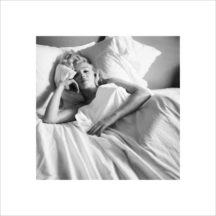 Obraz, Reprodukce - Marilyn Monroe - Bed, (40 x 40 cm)