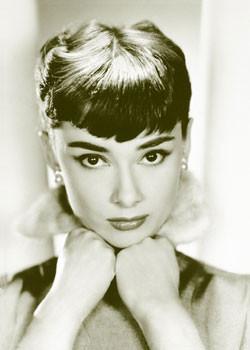 Plakát, Obraz - Audrey Hepburn - sepia, (61 x 91,5 cm)