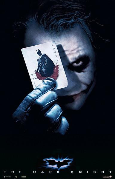 Plakát, Obraz - BATMAN THE DARK KNIGHT - joker card, (68 x 98 cm)