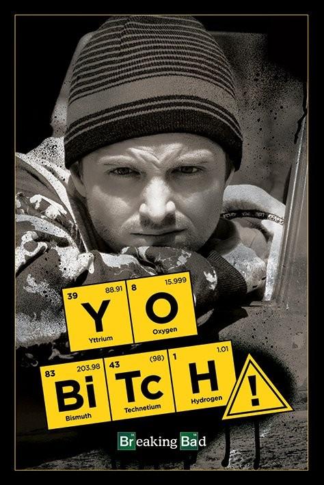 Plakát, Obraz - BREAKING BAD - yo bitch!, (61 x 91,5 cm)