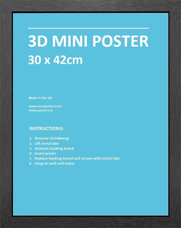 Ramka Ramka do mini 3D Plakat 30x42 cm czarny MDF