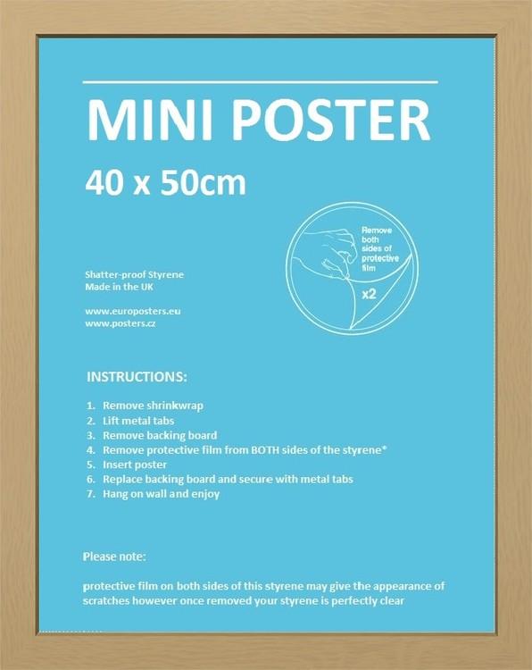 Rám Mini pro plakát 40x50 cm dub MDF