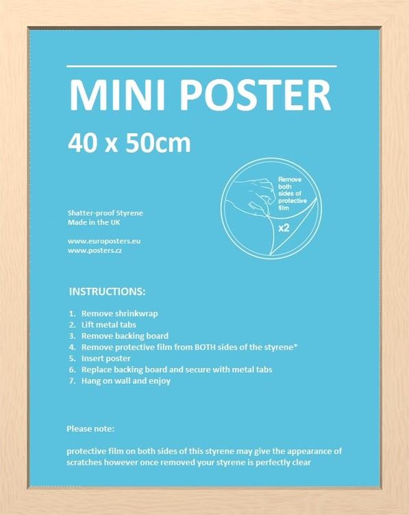 Rám Mini pro plakát 40x50 cm buk MDF