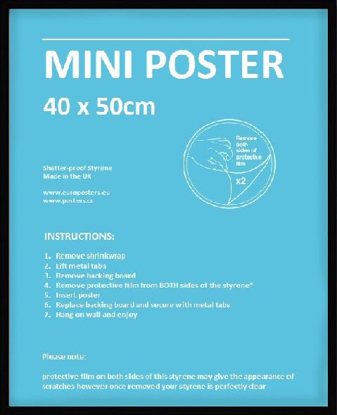 RámRám Mini pre plagát 40x50 cm čierna Plast