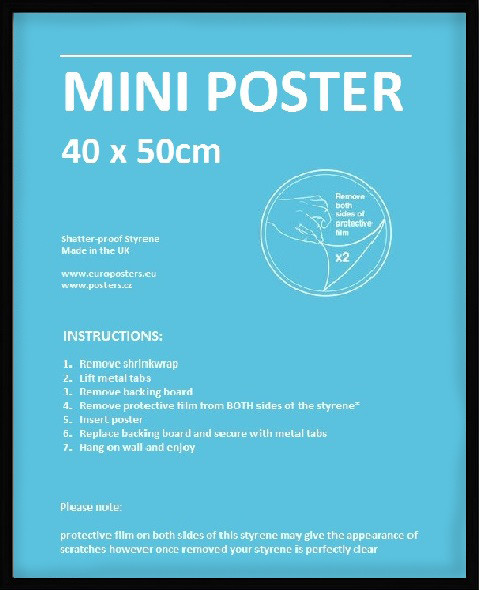 Rahmen - Mini Poster 40x50cm Schwarz Kunststoff