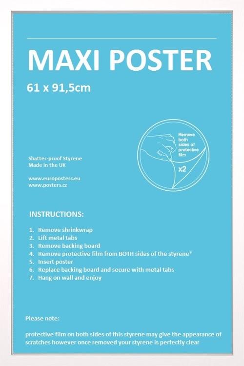 Rahmen - Poster 61x91,5cm Weiß MDF
