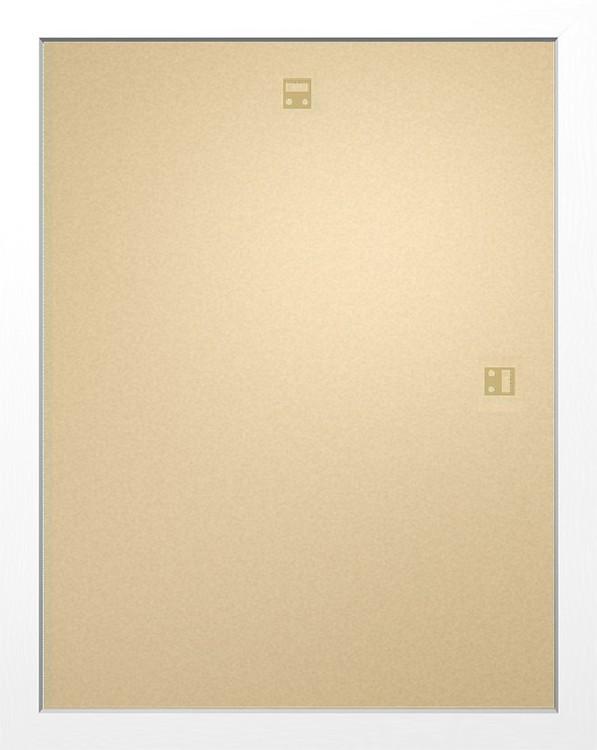 Rahmen - Mini Poster 40x50cm Weiß MDF
